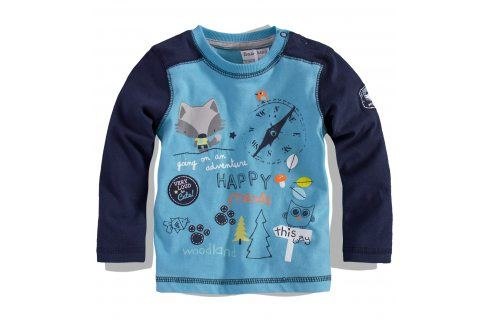 BABALUNO Kojenecké triko dlouhý rukáv FOX Velikost: 62-68 Kojenecká trička a košilky