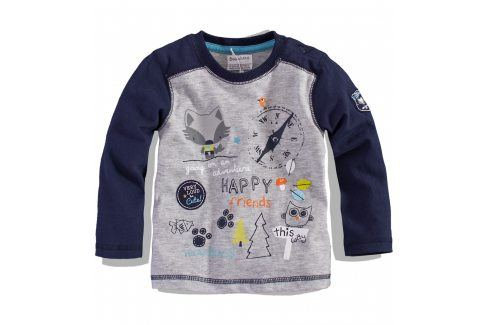 BABALUNO Kojenecké triko dlouhý rukáv FOX Velikost: 56-62 Kojenecká trička a košilky