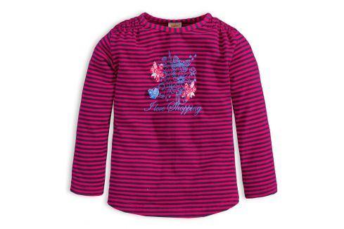 Dívčí triko DIRKJE STYLISH růžový proužek Velikost: 98