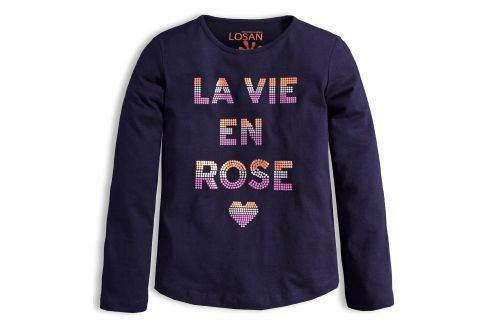 Dívčí triko LOSAN ROSE tmavě modré Velikost: 164