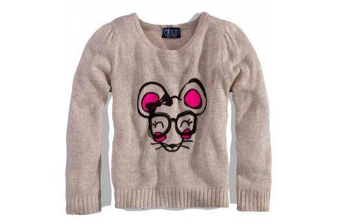 Dívčí svetřík MINOTI FUNKY béžový Velikost: 86-92 Mikiny a svetry