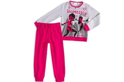 Dívčí pyžamo DISNEY INCREDIBLES ÚŽASŇÁKOVI tmavě růžové Velikost: 98