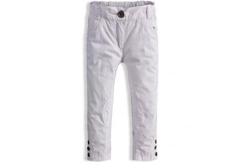 Dívčí kalhoty plátěné DIRKJE bílé Velikost: 80