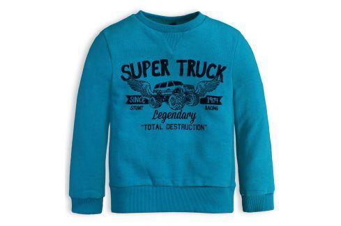 Chlapecká mikina KNOT SO BAD SUPER TRUCK modrá Velikost: 92