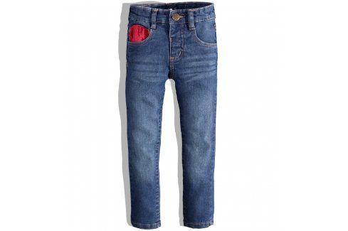 Dívčí džíny Minoti HELLO modré Velikost: 86-92 Dětské kalhoty