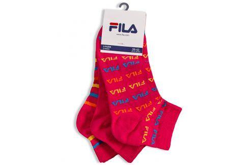 Dámské ponožky FILA 3 páry růžové Velikost: 35-38 Dětské oblečení