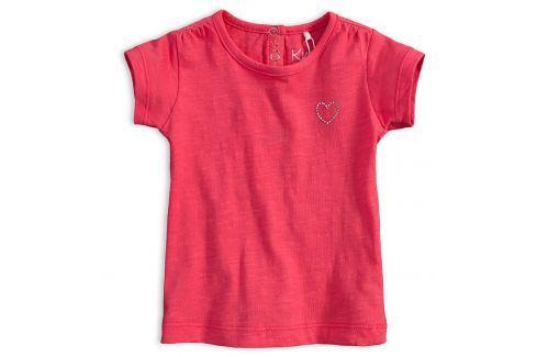 Dívčí tričko KNOT SO BAD SRDÍČKO růžové Velikost: 62