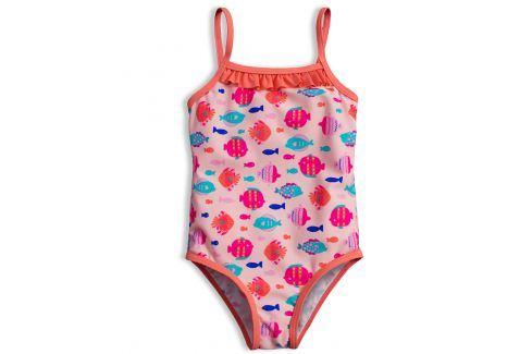 Dívčí plavky KNOT SO BAD RYBKY růžové Velikost: 92 Dětské plavky