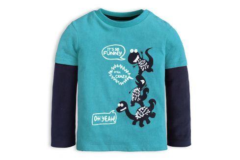 Chlapecké tričko KNOT SO BAD CRAZY DINO modré Velikost: 62 Kojenecká trička a košilky