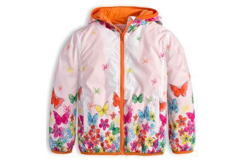 Dívčí jarní bunda LOSAN MOTÝLI bílá Velikost: 98