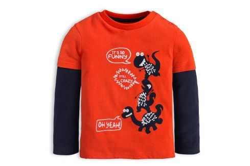 Chlapecké tričko KNOT SO BAD CRAZY DINO oranžové Velikost: 62 Kojenecká trička a košilky