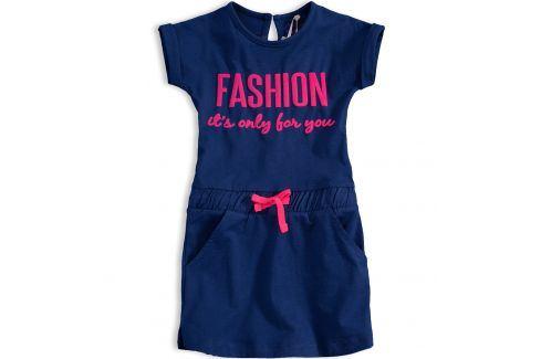 Dívčí bavlněné šaty KNOT SO BAD FASHION modré Velikost: 92