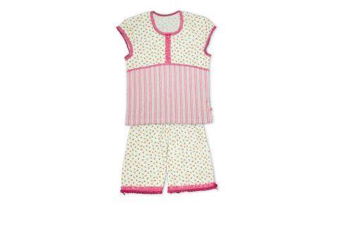 Dívčí letní pyžamo KEY DITSY bílé Velikost: 134 Dětská pyžama a košilky