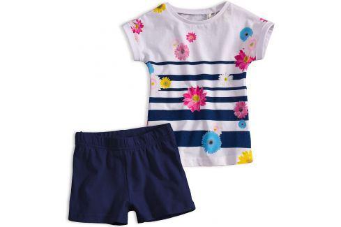 Dívčí letní souprava KNOT SO BAD FLOWERS modrá Velikost: 92