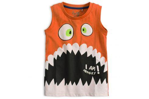 Chlapecké tričko bez rukávů KNOT SO BAD HUNGRY oranžové Velikost: 92
