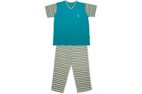Dívčí pyžamo KEY STRIPES tyrkysové Velikost: 158 Dětská pyžama a košilky