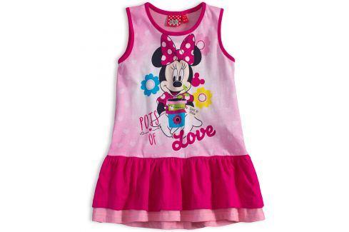 Dívčí letní šaty Disney MINNIE GARDEN růžové Velikost: 98