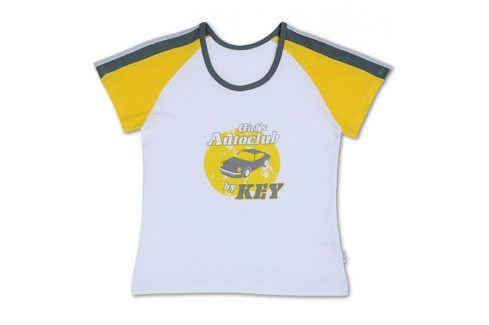 Dívčí tričko KEY bílé Velikost: 158-164 Trička a košile