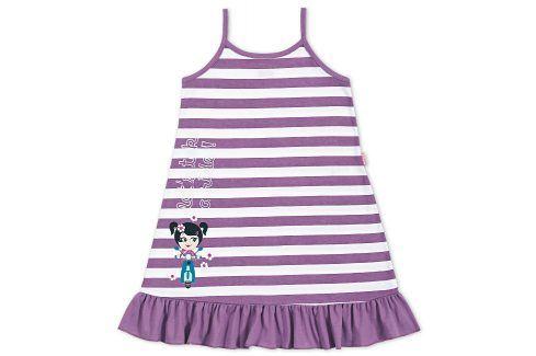 Dívčí noční košile Kyly PROUŽEK fialová Velikost: 104 Dětská pyžama a košilky