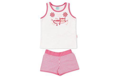 Dívčí letní pyžamo Kyly KOČKA růžové Velikost: 116 Dětská pyžama a košilky