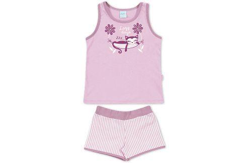 Dívčí letní pyžamo Kyly KOČKA fialové Velikost: 116 Dětská pyžama a košilky