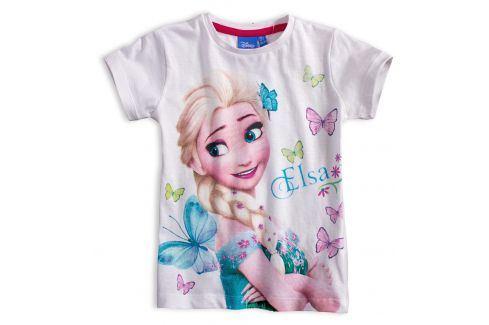 Dívčí tričko DISNEY FROZEN ELSA bílé Velikost: 104