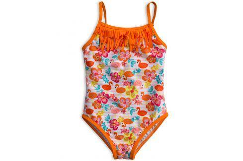 Dívčí plavky vcelku KNOT SO BAD PLAMEŇÁCI oranžové Velikost: 92