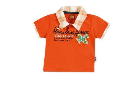 Tričko s límečkem KYLY oranžové Velikost: 92 Trička a košile