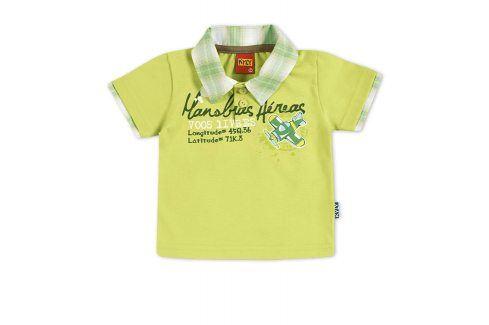 Dětské tričko s límečkem KYLY světle zelené Velikost: 86