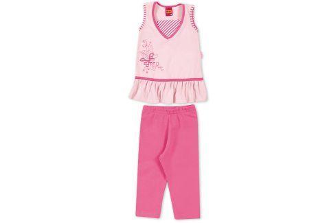 Dívčí komplet tunika a leginy KYLY růžový Velikost: 98 Komplety, soupravy