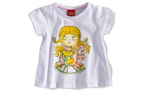 Dívčí tričko PANENKA KYLY bílé Velikost: 86 Kojenecká trička a košilky