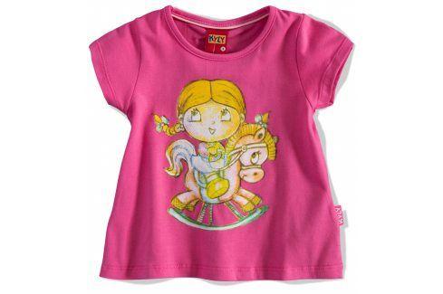 KYLY Dívčí tričko PANENKA růžové Velikost: 92 Trička a košile