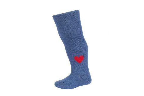 Dívčí punčocháče se vzorem WOLA SRDÍČKO modré jeans Velikost: 62-74 Dětské punčocháče