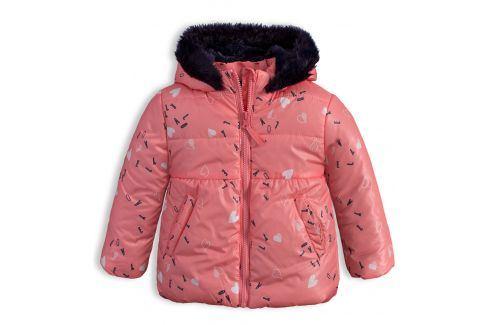 Dívčí zimní bunda LEMON BERET SRDÍČKA růžová Velikost: 68