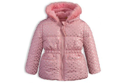 Kojenecká dívčí zimní bunda LEMON BERET PUNTÍKY růžová Velikost: 68