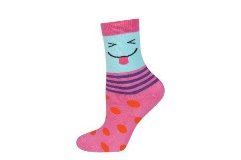 Dětské termo ponožky SOXO SMAJLÍK růžové Velikost: 25-28