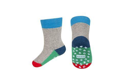 Dětské termo ponožky SOXO WINTER modré Velikost: 22-24