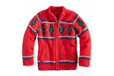 MINOTI Kojenecký chlapecký zateplený svetr ROBOT červený Velikost: 80-86 Kojenecké mikiny a svetry