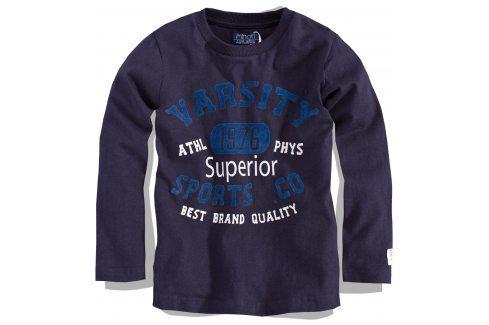 Chlapecké triko s dlouhým rukávem Minoti modré Velikost: 86-92 Trička a košile