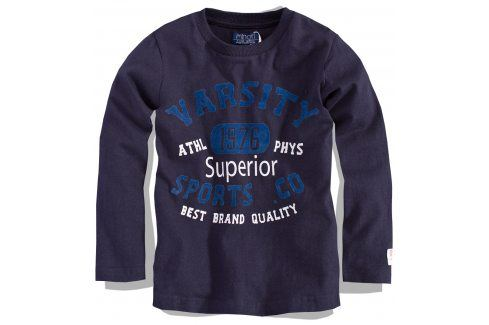 Kojenecké triko s dlouhým rukávem Minoti modré Velikost: 80-86 Kojenecká trička a košilky