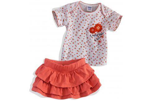Kojenecká sukýnka a tričko DIRKJE oranžová Velikost: 56 Kojenecké soupravy