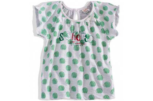 Dívčí tričko krátký rukáv DIRKJE zelený puntík Velikost: 92 Trička a košile