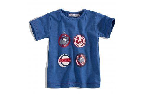 Dětské tričko DIRKJE HIPPO modré Velikost: 56 Kojenecká trička a košilky
