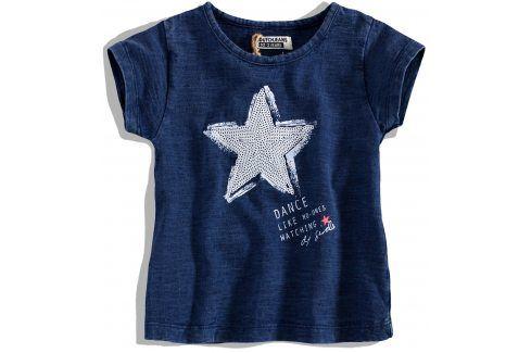 Dívčí tričko krátký rukáv DIRKJE STAR DANCE modré Velikost: 92 Trička a košile