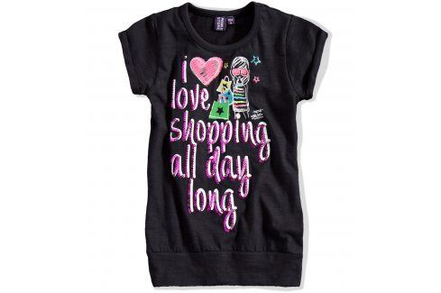 Dívčí tričko s krátkým rukávem PEBBLESTONE černé Velikost: 92-98 Trička a košile