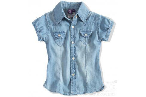 Dívčí riflová halenka PEBBLESTONE Velikost: 104 Trička a košile