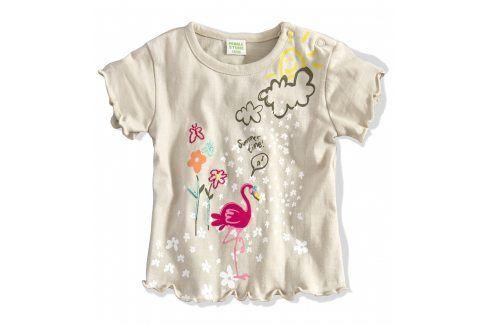 Kojenecké tričko PEBBLESTONE PLAMEŇÁK béžové Velikost: 68 Kojenecká trička a košilky