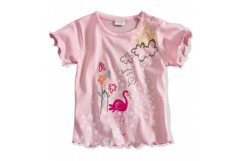 Kojenecké tričko PEBBLESTONE PLAMEŇÁK růžové Velikost: 68 Kojenecká trička a košilky