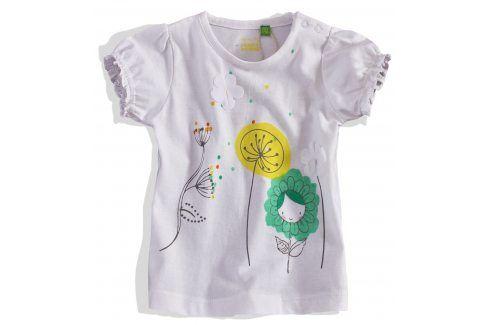 Dívčí tričko krátký rukáv PEBBLESTONE bílé Velikost: 68 Kojenecká trička a košilky