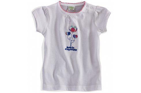 Kojenecké dívčí tričko PEBBLESTONE SRDÍČKA bílé Velikost: 68 Kojenecká trička a košilky